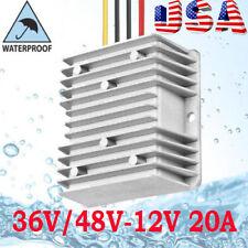 GOLF CART Voltage Reducer Converter Regulator 36V-48V Volt To 12V 20Amp US Fast