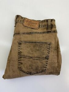 RM Williams Mens Denim Jeans Size 34 R Tapered Leg Mid Rise TJ891 Made in Aus