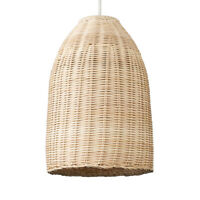Modern Natural Rattan  Wicker Basket Style Ceiling Pendant Light Shade Lighting