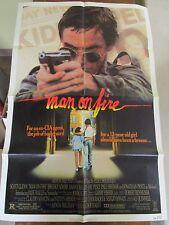 Vtg 1 sheet 27x41 Movie Poster Man On Fire 1987 Scott Glenn Jade Malle Joe Pesci
