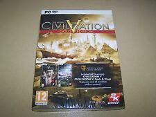 Sid Meier's Civilization V Gold Edition (PC: Windows, 2010) **New and Sealed**