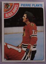 1978-79 TOPPS PIERRE PLANTE BLACK HAWKS #179 Hockey CarD LOT OF 2 NM-MT