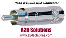 BAG-50  Neutrik Rean NYS352 RCA Connector  Phono plug - cable O.D. 7.2 mm. NEW