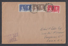 Nigeria Sc 50-52 FDC. 1937 Coronation, cplt set on Selfridge & Co. cover