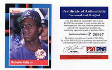 1988 Donruss # 635 Roberto Kelly Autograph / Signed Card PSA New York Yankees