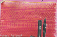 *~AVON~*AZTEC COSMETIC BAG**PINK & ORANGE**NEW**