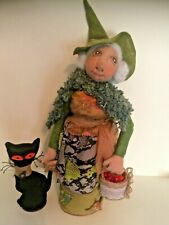 More details for old crone gothic witch handmade ooak  artist  cloth dolls  by dollydumpling