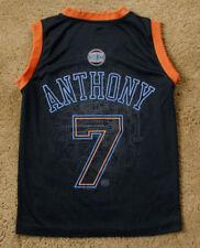 CARMELO ANTHONY 7 New York KNICKS sleeveless black jersey size youth S Majestic