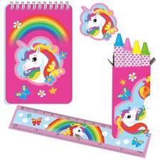 20pk Unicorn Stationery Pack Rainbow  Birthday Party Favours