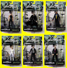 Matrix Movie 6 Action Figure Set series 1 New1999 N2 Toys Neo Trinity Amricons