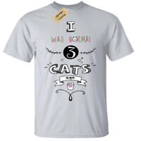 I Was Normal 3 Cats Ago Mens T-Shirt funny cat lover gift