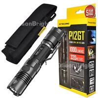 New NITECORE P12GT CREE LED 1000 Lumens tactical flashlight with holster & acc