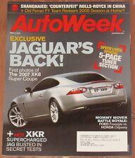MAY 2 2005 AUTOWEEK MAGAZINE JAGUAR XKR, PORSCHE CARRERA GT, BMW M3
