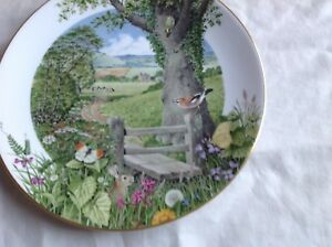 """ROYAL WORCESTER ENGLISH COUNTRYSIDE 9.25"""" PLATE SEPTEMBER ON THE MOORS MINT"""