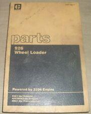 Cat Caterpillar 926 Wheel Loader Parts Book Manual Sn 94z00001 Up Sebp1484