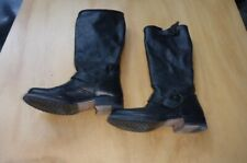 frye classic black  Us 7 1/2 B Boots pull fits 38 - approx veronica slouch style