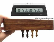 "Magnet chess set 10"" (25cm) with digital Clock Dgt1001 Black -timer-Travel chess"