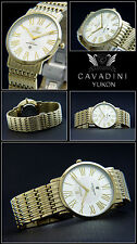 Yukon Complete Stainless Steel Unisex Watch from D. House Cavadini IP-Gold