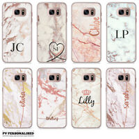PERSONALISED ROSE GOLD PEACH SHINY CUSTOM NAME INITIALS PHONE CASE FOR SAMSUNG