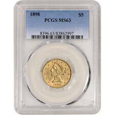 US Gold $5 Liberty Head Half Eagle - PCGS MS63 - Random Date