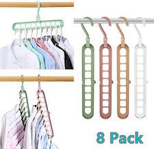 8 Pack Magic Space Saving Clothes Hangers Smart Closet Organizer Wardrobe Hooks