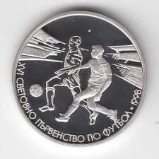BULGARIA 1996 500 LEVA WORLD FOOTBALL CHAMPIONSHIP FRANCE 1998 PROOF SILVER COIN