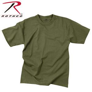 ARMY SOLID OD GREEN OLIVE DRAB PLAIN MENS ROTHCO T-SHIRT S M L XL 2X 3X 4X