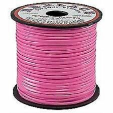 NEON PINK VINYL PLASTIC CRAFT PROJECT LACE ROLL 100 YARDS CAMP GIMP BOONDOGGLE
