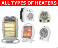 800W to 2000W Electric Portable Halogen Fan Upright Heaters ***FAST DISPATCH**