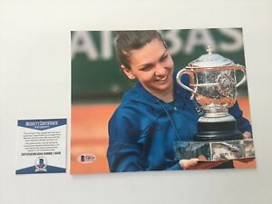 Simona Halep Signed Autographed 8x10 Photo Beckett BAS COA e