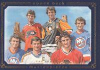 2008-09 UD Masterpieces Hockey Blue Darryl/Duane/Brent/Rich/Ron/Brian Sutter /50