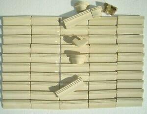 58 tiles ivory-white-cream German original Villeroy & Boch Art Nouveau Majolica