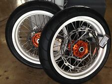 "Warp 9 17"" Supermoto Wheels with Michelin Tires KTM 690 Enduro"
