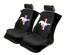 Seat Armour Universal Black Towel Front Seat Covers for Mustang Pony -Pair