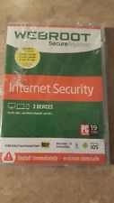 Secure Anywhere Internet Security by Webroot (New, seal ripped)