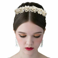 Bandeau bal Mariage Accessoires Cheveux Mariage Perles Crystal Blanc Couronne