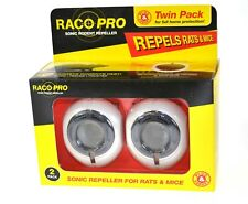 Raco Pro Twin Pack Repels Rats & Mice Mouse Sonic Rodent Repeller