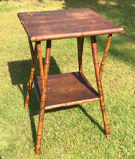 VINTAGE MID CENTURY MODERN RATTAN BAMBOO END TABLE SIDE TABLE RETRO