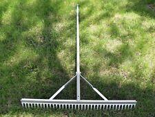 "New Yard Works 36"" Aluminum Landscape Rake 65"" Handle 37 Teeth Garden Leaf"