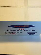 Majestic 2oz  Clear Plastic Sauce Cups & Lids Box 1000. For Takeaway/ Restaurant