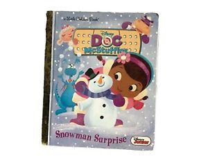 Disney DOC McSTUFFINS SNOWMAN SURPRISE Hardcover Little Golden Book (2013) *EUC*