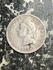 1961 Dominican Republic 10 Centavos Lot#L7890 Silver!