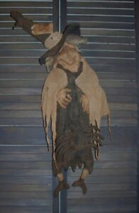 Primitive OLD HAG of a WITCH  and SPIDER Halloween Pattern