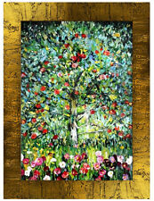 Gustav Klimt - Apfelbaum -107x77cm Ölgemälde Handgemalt Leinwand Rahmen Signiert