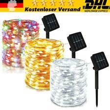 Solar Lichterkette Beleuchtung 200 LED Lichtschlauch Aussen Draht Garten Deko