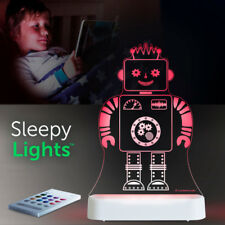 Robot LED Aloka Sleepy Night Lights DUAL Powered USB & Battery - Multi Colour...
