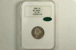 1883 Liberty Head Nickel No Cents NGC Proof 63 CAC
