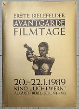 Erste Bielefelder Avantgarde Filmtage 1989 Kino Lichtwerk
