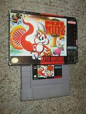 Mr. Nutz (Super Nintendo Entertainment System SNES, 1994) with Box GOOD