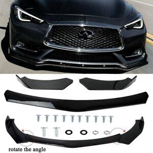 For Infiniti Q60 Q70 Car Front Bumper Lip Body Kit Splitter Spoiler Diffuser HG